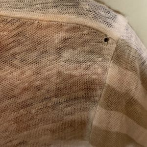 J. Crew Tops - J Crew l Tan Striped Panel Linen Tee